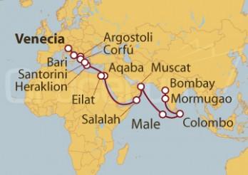 Crucero De Venecia (Italia) a Bombay (India)