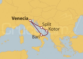 Crucero Italia, Montenegro y Croacia