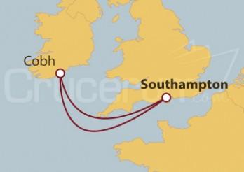 Crucero Southampton (UK) y Cobh (Irlanda)