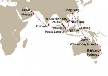 Crucero Tramo Vuelta al Mundo 2020 - Asia y Australia