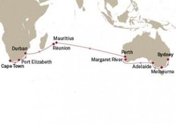 Crucero Tramo Vuelta al Mundo 2020 - De Australia a África