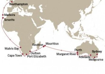 Crucero Australia y África hasta Londres