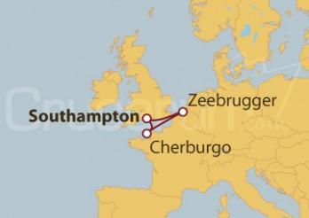 Crucero Bélgica y Francia desde Southampton