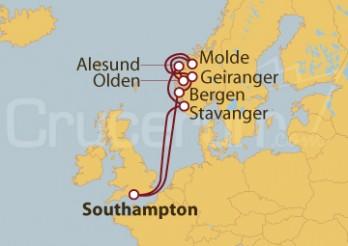Crucero Noruega desde Southampton (UK)