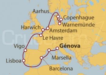 Crucero De Génova (Italia) a Copenhague