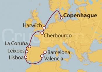 Crucero De Copenhague (Dinamarca) a Valencia