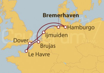 Crucero Alemania, Gran Bretaña, Francia y Bélgica