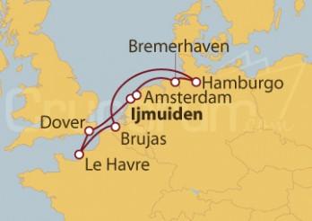 Crucero Reino Unido, Francia, Bélgica y Alemania