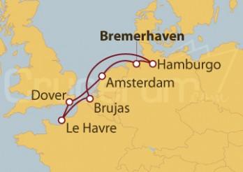 Crucero Alemania, Holanda, Gran Bretaña, Francia, Bélgica