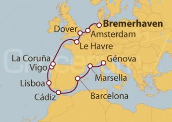 Crucero De Bremerhaven a Génova