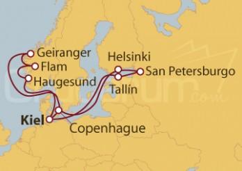 Crucero Fiordos Noruegos y Capitales Bálticas