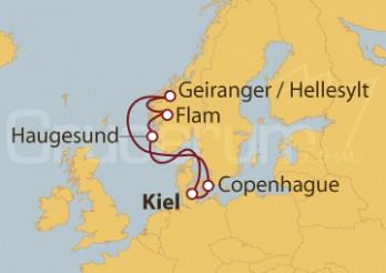 Crucero Copenhague (Dinamarca), Noruega y Kiel