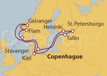 Crucero Dinamarca, Noruega, Alemania, Estonia, Rusia y Finlandia