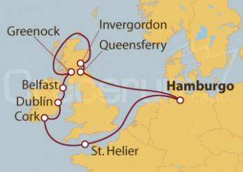 Crucero Alemania, Reino Unido, Irlanda