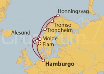 Crucero Trondheim y su colorido marítimo