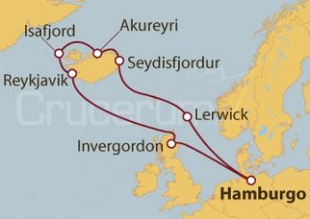 Crucero La música de las olas desde el Mar del Norte hasta Islandia