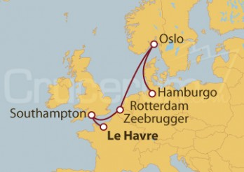 Crucero Reino Unido, Bélgica y Noruega