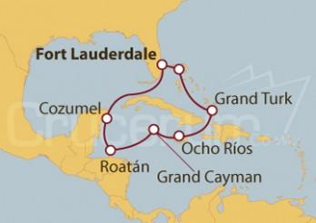 Crucero Florida (USA), Islas Caíman, Honduras, Belize y México