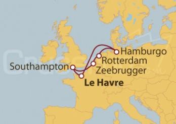 Crucero Francia, Reino Unido, Bélgica, Holanda y Alemania
