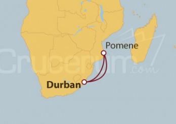 Crucero Sudáfrica y Mozambique