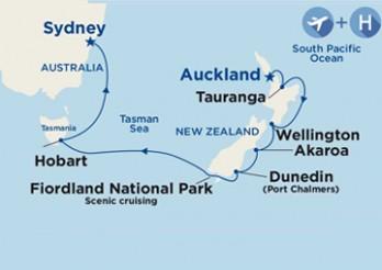 Crucero Viaje Completo por Nueva Zelanda y Australia desde Madrid