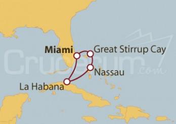 Crucero Cuba y Las Bahamas del Miami