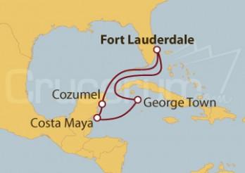 Crucero Islas Caimán y México: Costa Maya y Cozumel