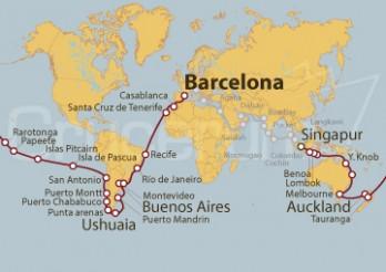 Crucero Tramo Vuelta al Mundo 2019: De Barcelona a Singapur