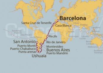Crucero Tramo Vuelta al Mundo: Barcelona - San Antonio