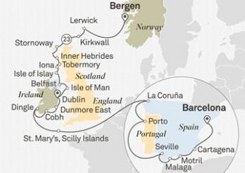 Crucero Naciones Marineras: Barcelona - Bergen