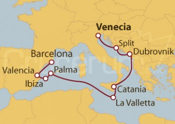 Crucero De Venecia (Italia) a Barcelona