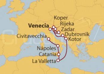 Crucero De Venecia a Civitavecchia (Roma)