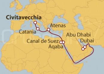 Crucero De Civitavecchia (Roma) a Dubai