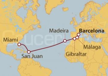 Crucero De Barcelona a Miami (EEUU)