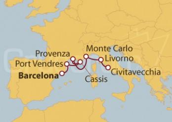 Crucero Francia, Mónaco e Italia