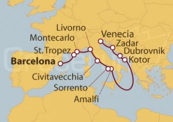 Crucero De Barcelona a Venecia (Italia)