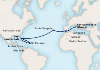 Crucero Travesía a América y Caribe Oriental