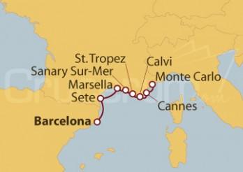 Crucero De Barcelona a Montecarlo (Mónaco)