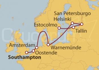 Crucero Capitales Bálticas: De Southampton (UK) a Estocolmo