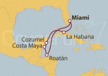 Crucero Miami (EEUU), Belice, Costa Maya (México), La Habana (Cuba)