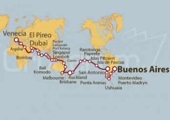 Crucero Vuelta al Mundo 2019 desde Buenos Aires