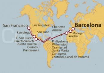 Crucero De Barcelona a San Francisco