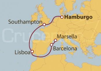 Crucero De Hamburgo (Alemania) a Marsella (Francia)