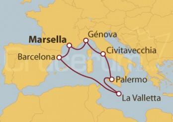 Crucero Francia, Italia, Malta y España