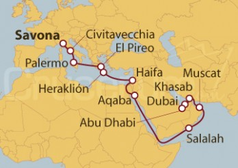Crucero De Savona (Italia) a Dubai (EAU)