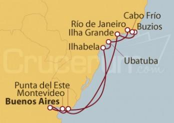 Crucero Oferta estrella, Buenos Aires, Uruguay y Argentina