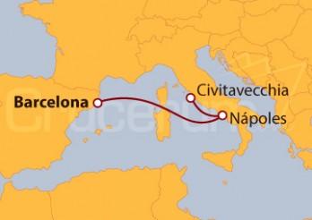 Crucero Mediterráneo Occidental desde Roma