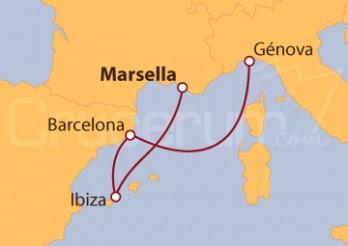 Crucero De Marsella (Francia) a Génova