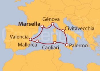 Crucero Francia, Italia y España