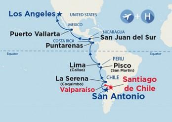 Crucero Chile, Perú y México